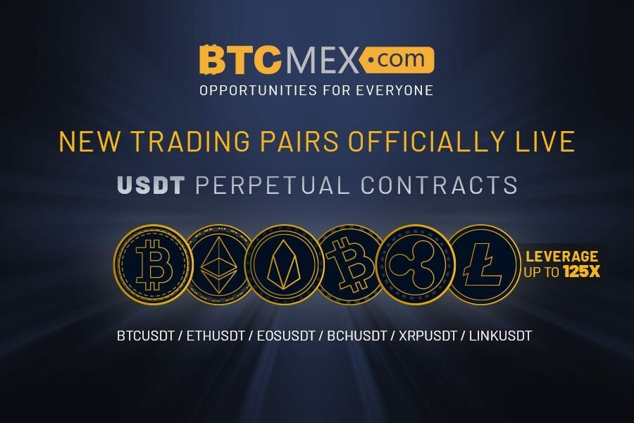 Btcmex Launches 125x Usdt Perpetual Contracts With 6 New Trading Pairs Contract News Derivatives Trading