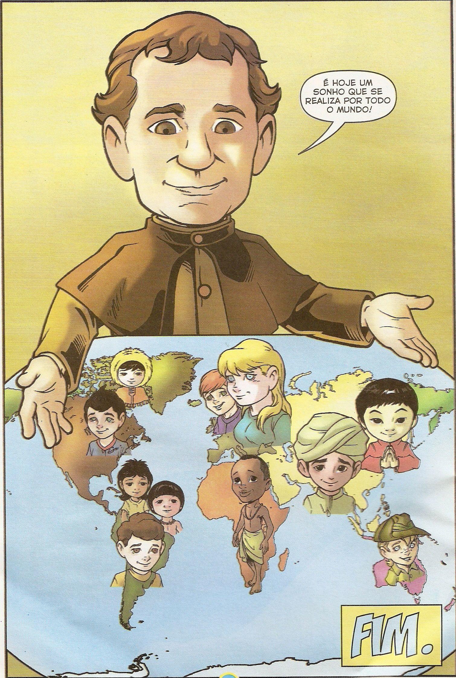 Con Don Bosco Por Todo El Mundo Haciendo El Reino De Dios Salesianas Dibujos Juan Bosco