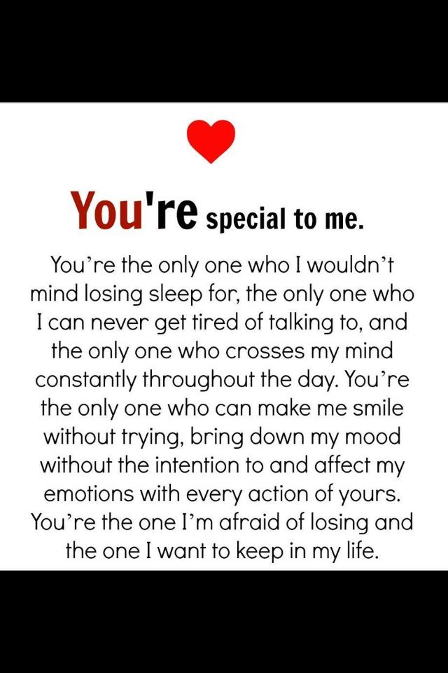 The Best And Most Comprehensive You Are Special To Me Quotes