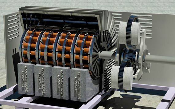 Generator Inside Power Plants Magnetic Generator