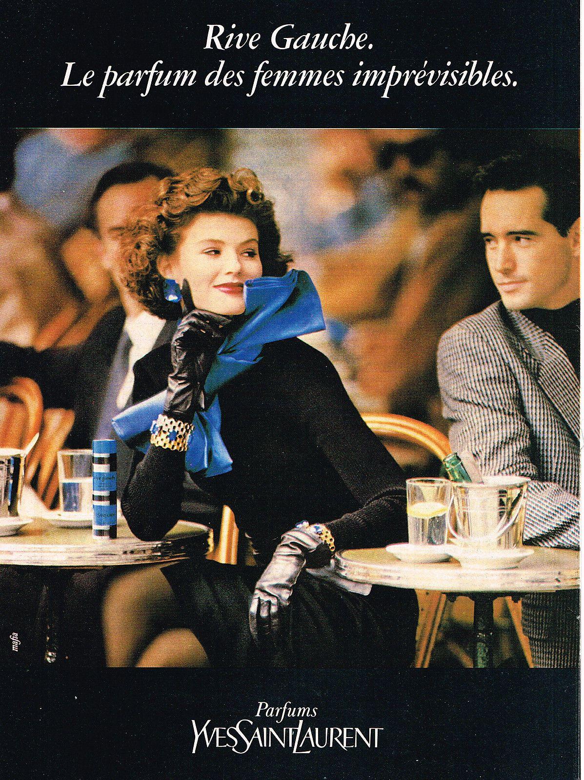 PUBLICITE ADVERTISING 1984 YVES SAINT LAURENT parfum RIVE GAUCHE ... dcd556ce0c0