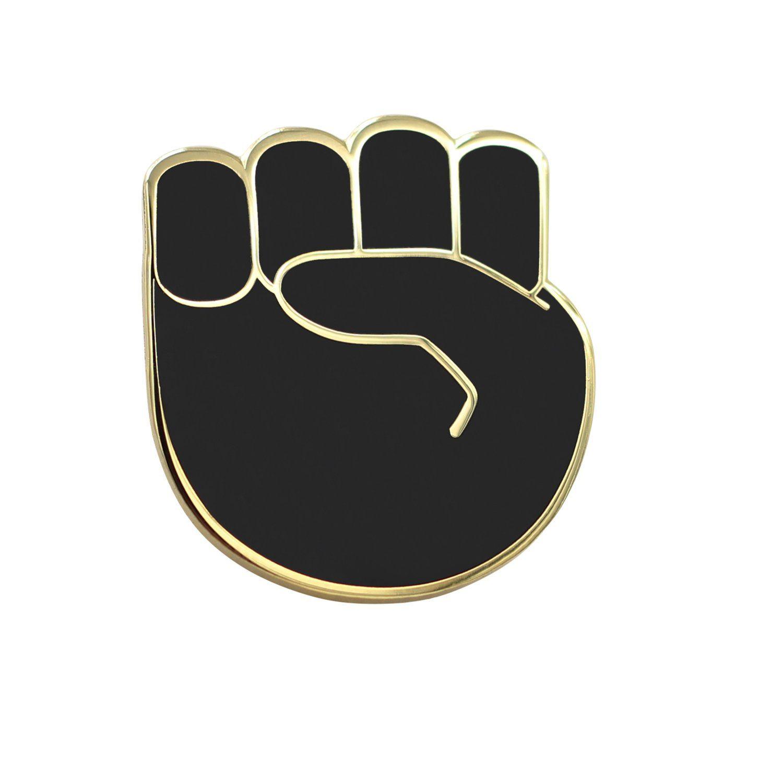 Raised Fist Emoji Pin Raised Fist Emoji Pin Female Art