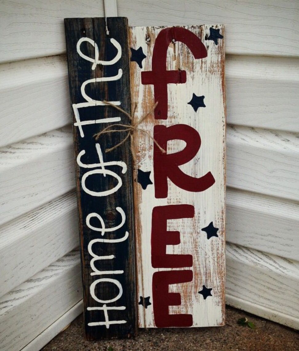 Diy Fourth Of July Wooden Front Porch Sign Front Porch