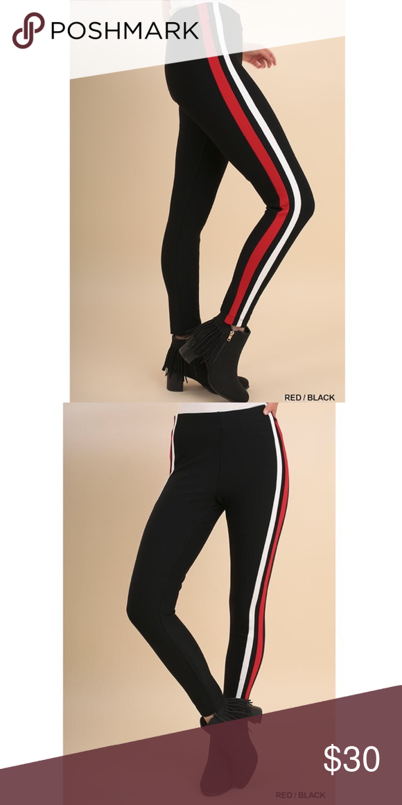 ebe6436f5bc6d Velocity Stripe Pant These leggings are very high quality (not see through)  with red and white stripes down both legs. Fits size 2-4 Umgee Pants  Leggings