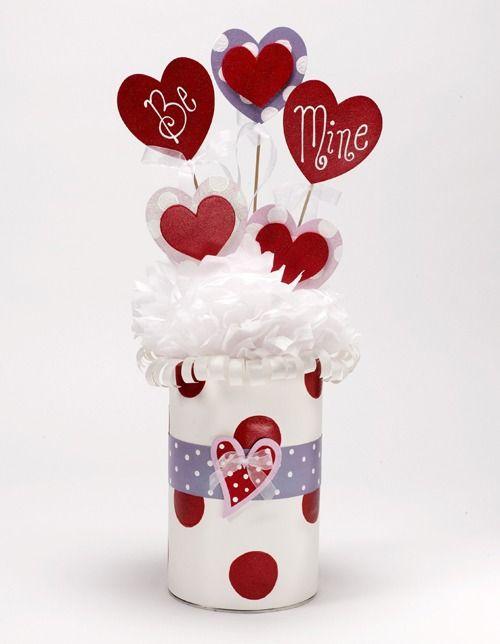 Glittery Heart Party Centerpiece Diy Valentines