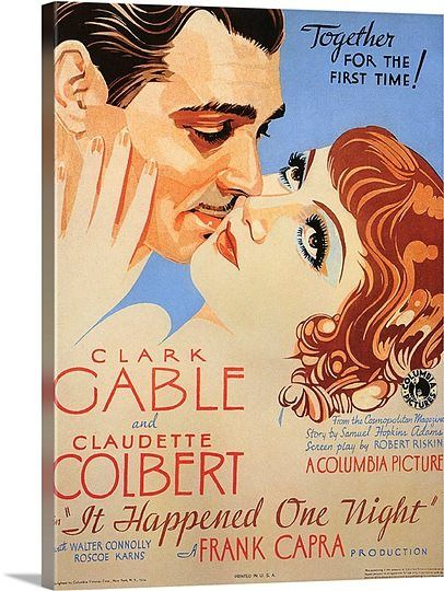 It Happened One Night 1934 Cartazes De Cinema Cartazes De