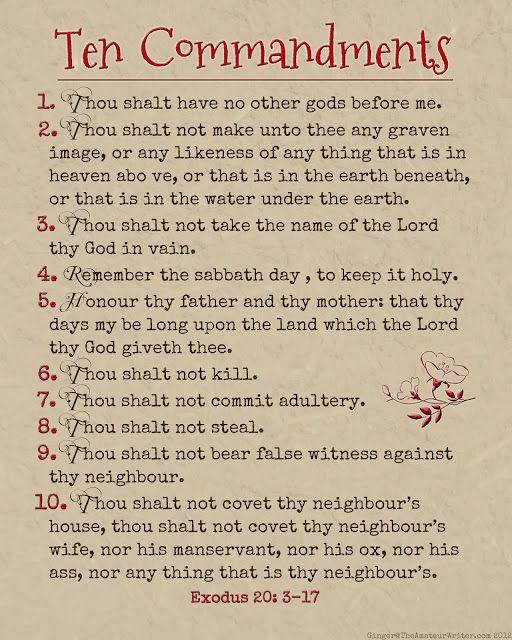 10 commandments # 17