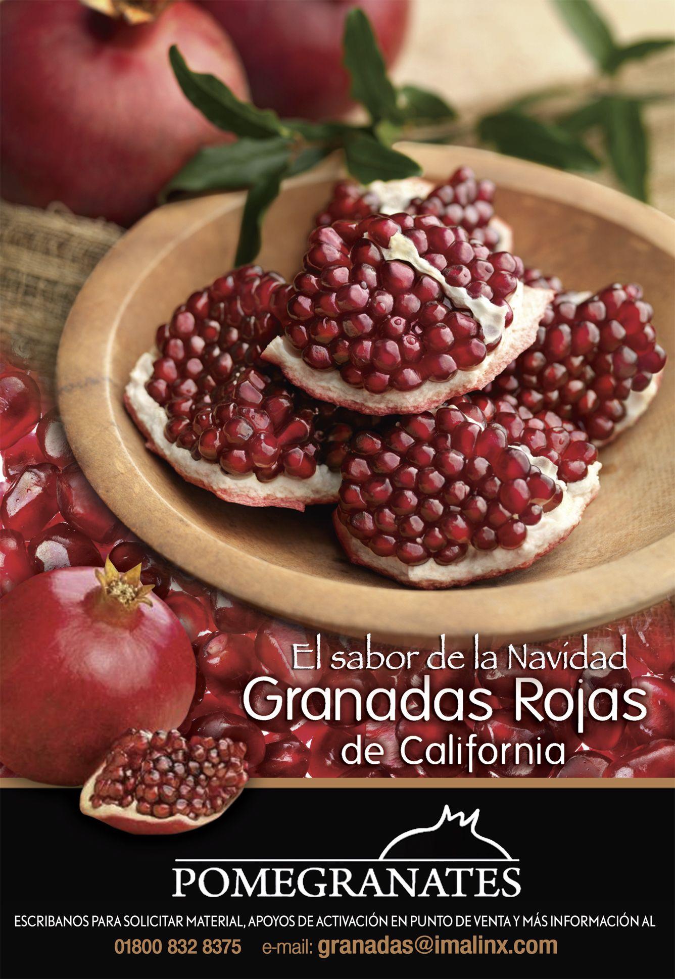 Ya viene la temporada de la Granada y hemos preparado una campaña para recibirla en México, una fruta que sin lugar a dudas nos significa la Navidad!!!