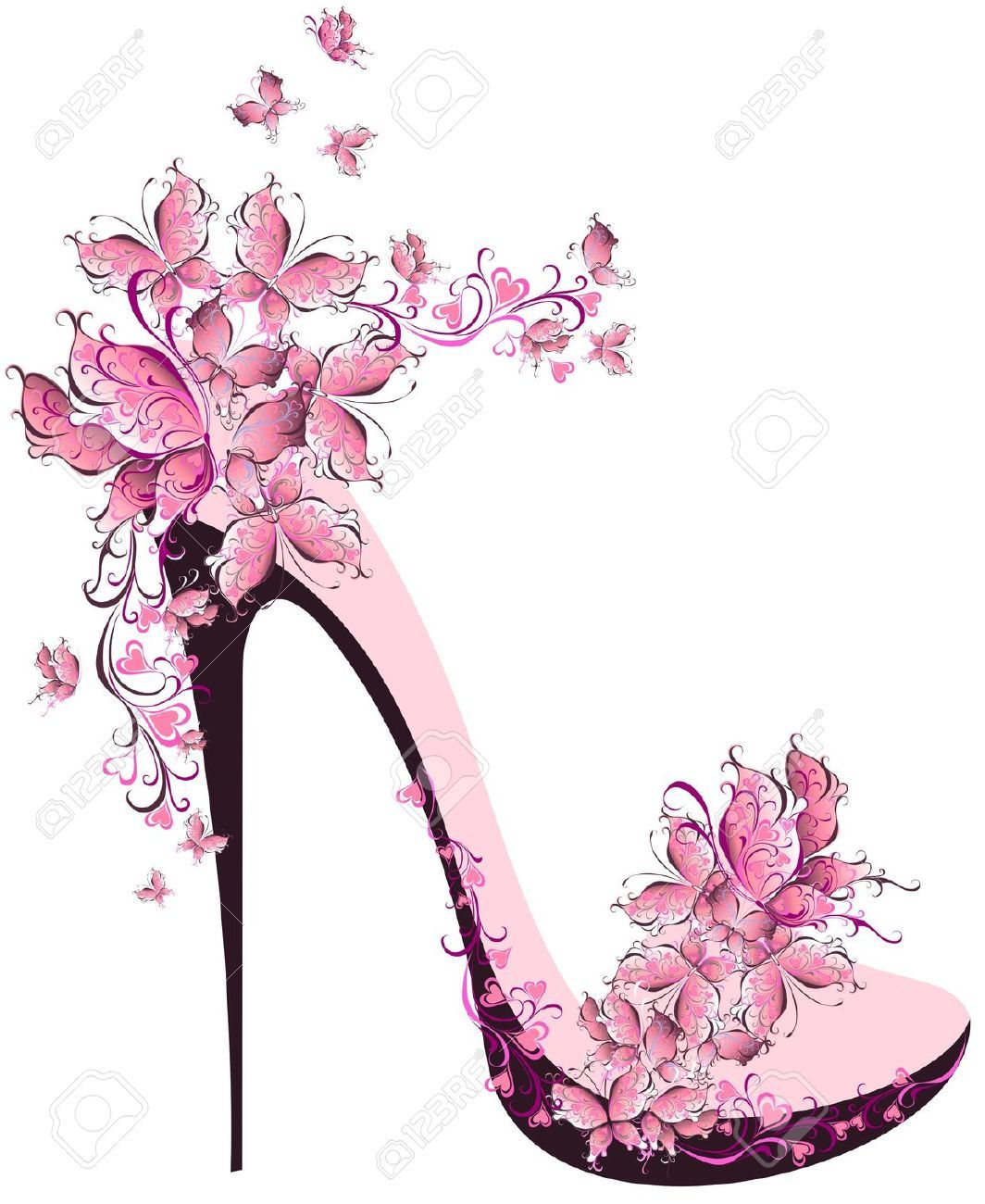 High Fashion Stock Photos Pictures Royalty Free High Fashion Images And Stock Photography Floral High Heels Shoe Art Shoes Illustration