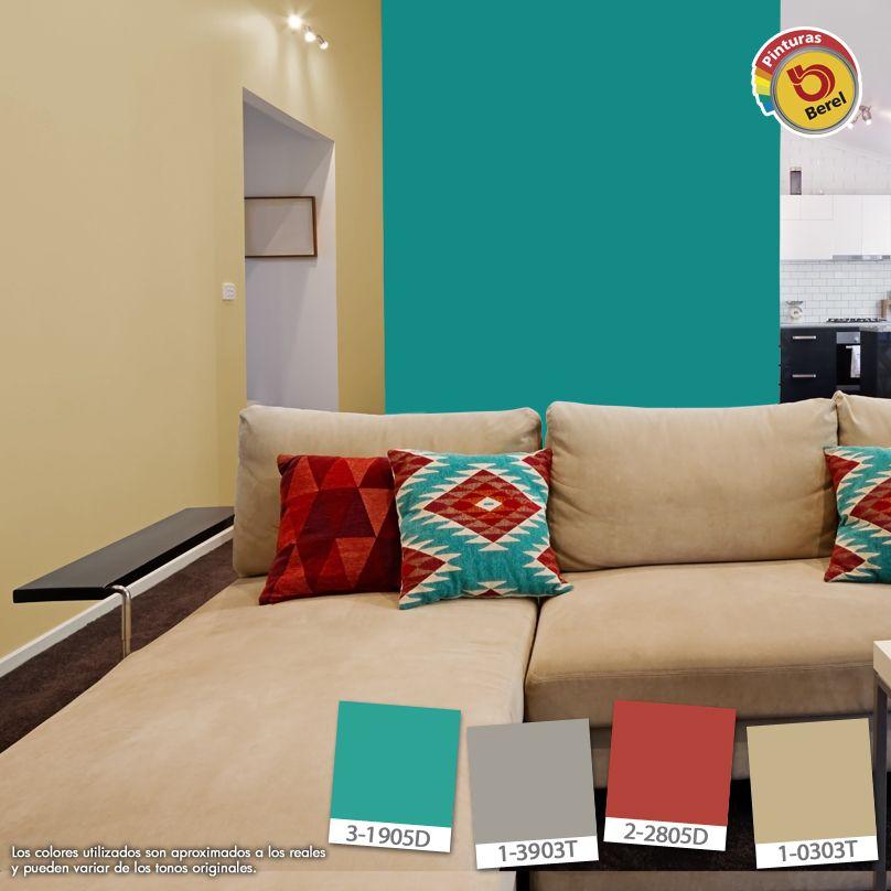 Atrévete a utilizar colores intensos en tu sala, le darás un toque
