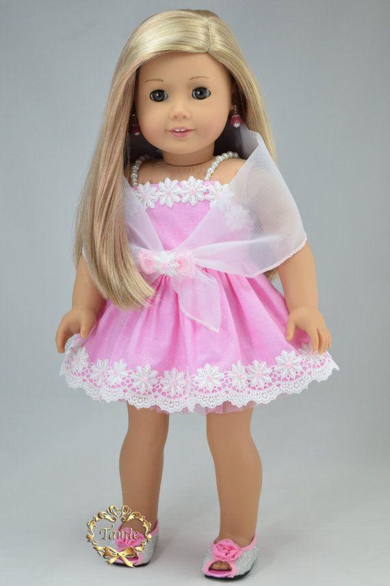 American girl doll clothes Formal short Dress by PurpleRoseNY ...