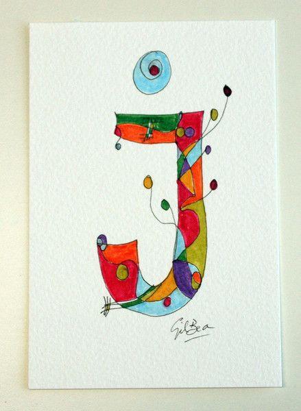 Kinder Namen Aquarell Briefe Cards Custom Von Gilbea Acuarelas Auf
