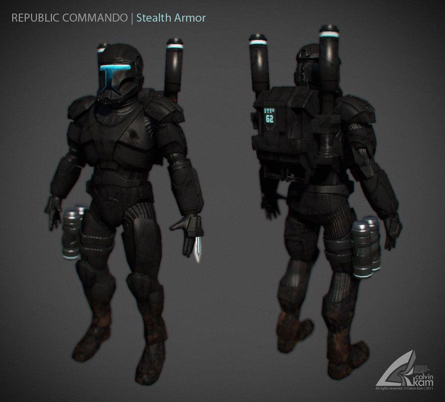 Commando Armor Night Ops Armor Star Wars Omega Squad Pinterest