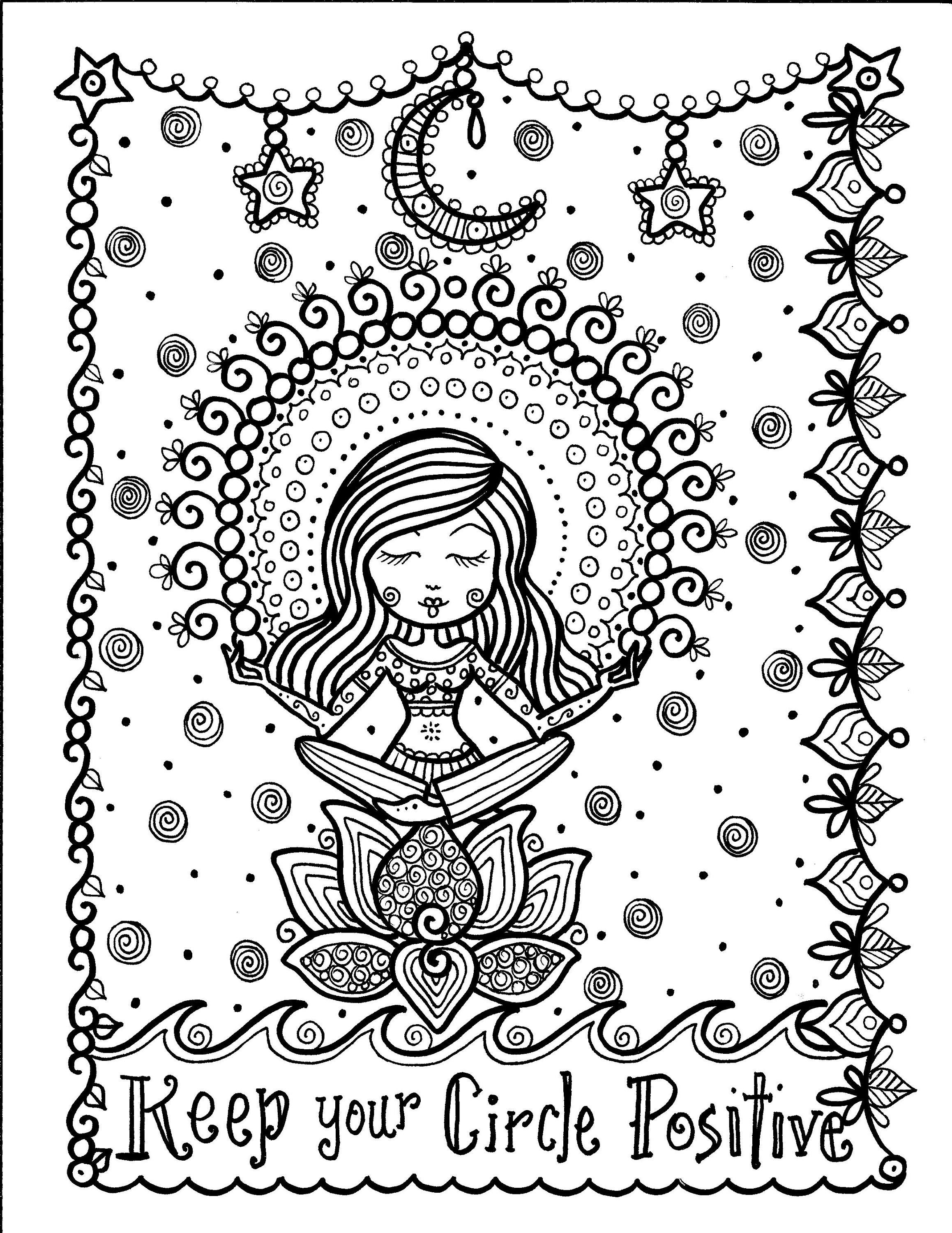 5 Pages Inspiring Coloring Pages Mantras Yoga Peace Om