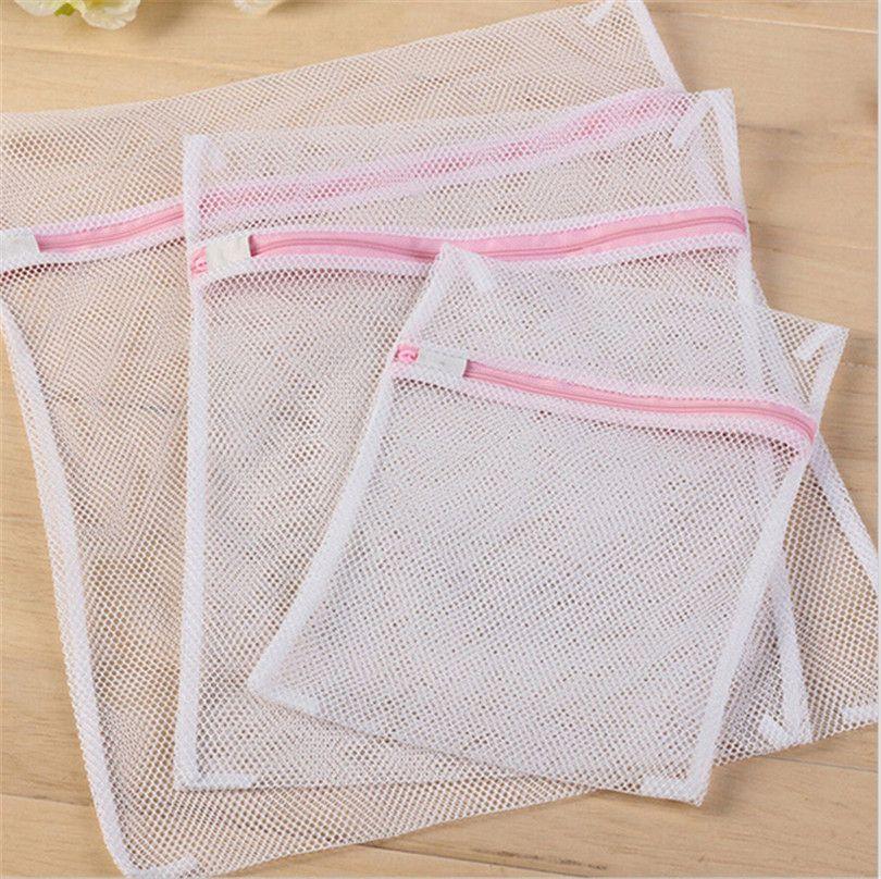 3pcs Set Bra Underwear Products Zippered Mesh Laundry Bags Baskets