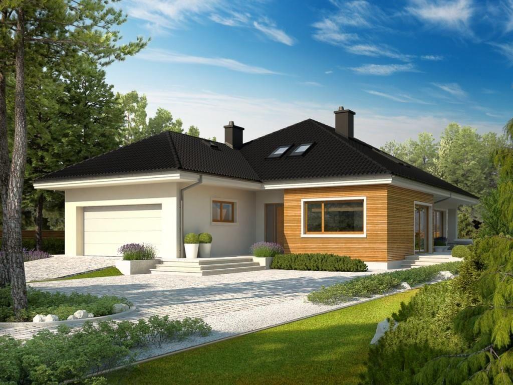 Villa moderna con giardino 2 esterno 3 home design nel for Architettura moderna case