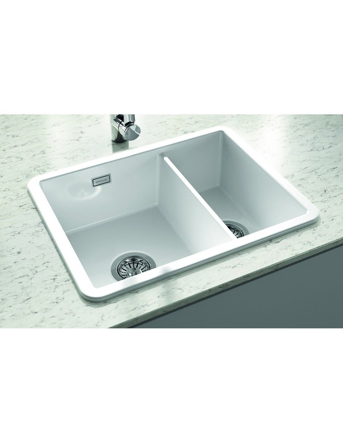 Thoms Denby Metro White Ceramic Kitchen Sinks 1 5 Bowl Topmount Or Undermount Fitting Met1020 Sink White Ceramic Kitchen Sink Ceramic Kitchen Sinks