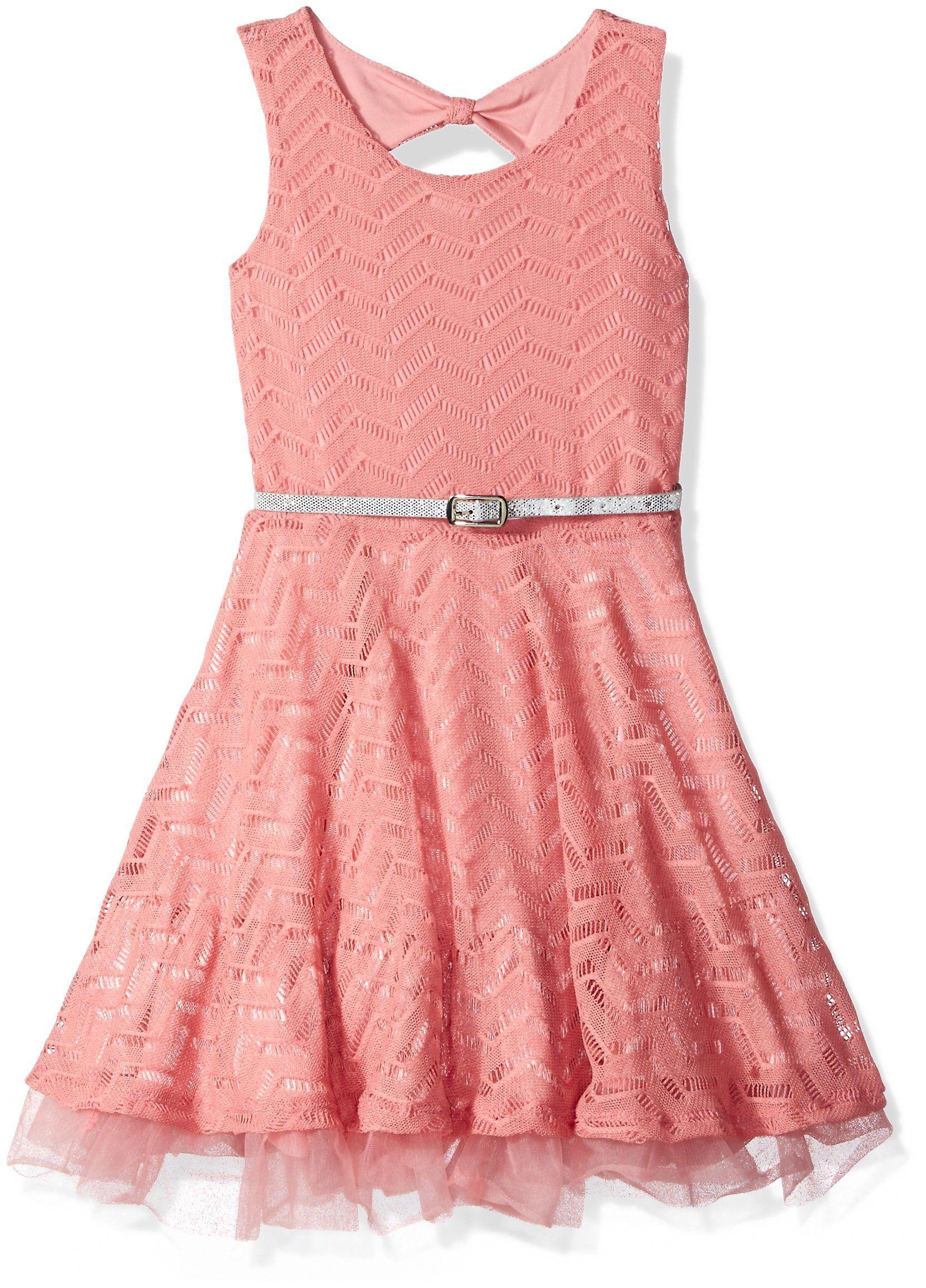 Beautees little girls skater dress dusty rose 6x click