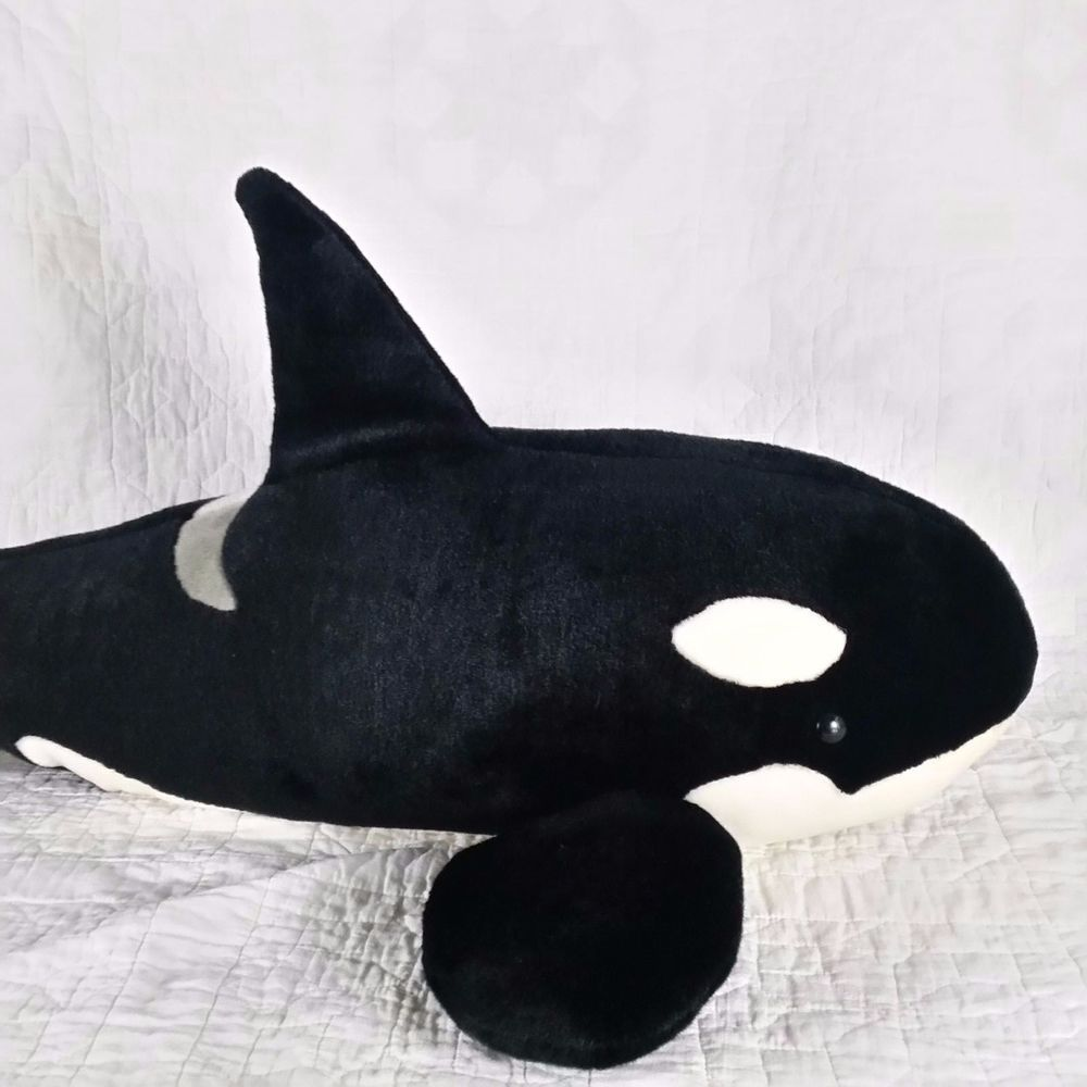 Seaworld Orca Plush Killer Whale Huge 36 Giant Stuffed Animal Fish