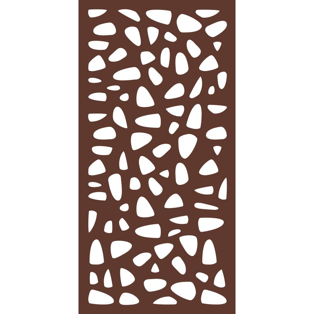 6 Ft X 3 Ft Espresso Brown Modinex Decorative Composite Fence Panel Featured In The Stonewall Des Fence Panels Decorative Fence Panels Decorative Screen Panels