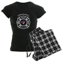 Fire Fighter Wife Women's Dark Pajamas> Patriotic Firefighter Wives Gifts & Apparel> Bonfire Designs