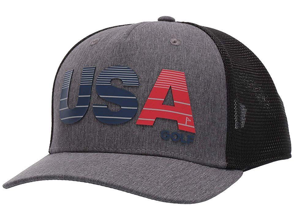 Adidas Golf Usa Golf Trucker Cap Black Grey Three Adidas Golf Trucker Cap Cap