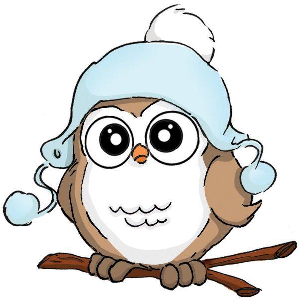 Stamps Owl Cartoon Art Impressions Owl Clip Art