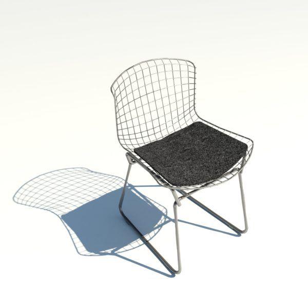 Bertoia Side Chair Com Imagens Revit