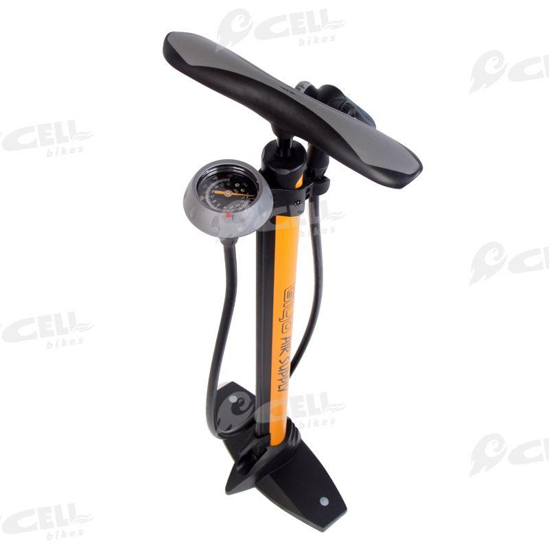 Giyo High Pressure Bike Floor Pump W Top Mounted Guage For Road