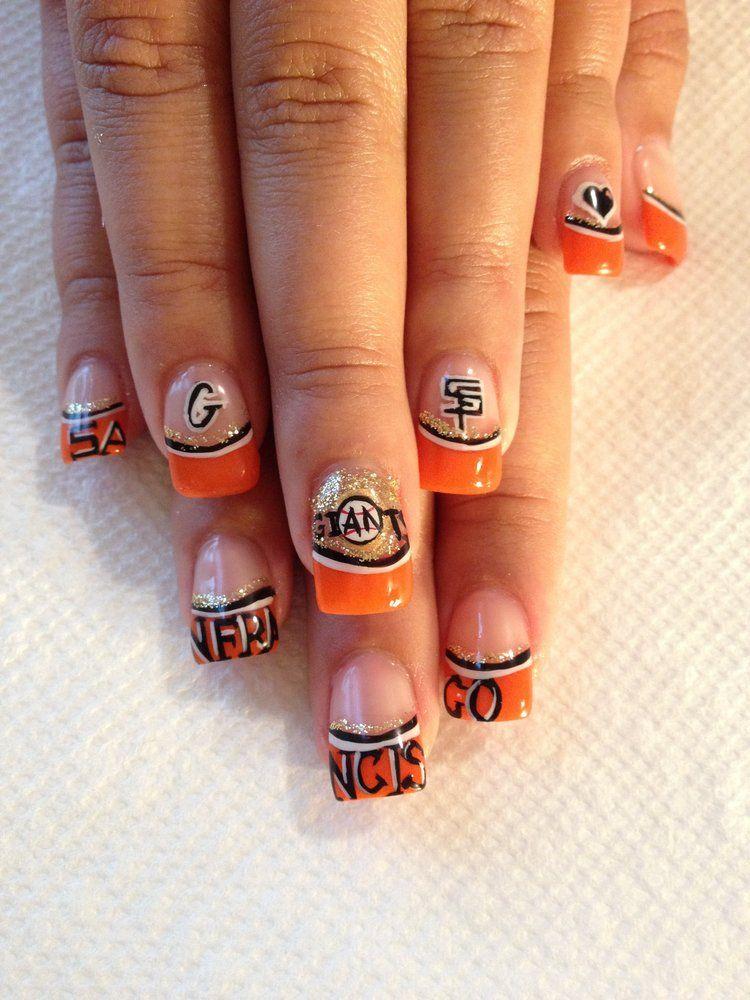 San Francisco Giants Nails | jpg | Nailed It ! | Pinterest | Nail ...