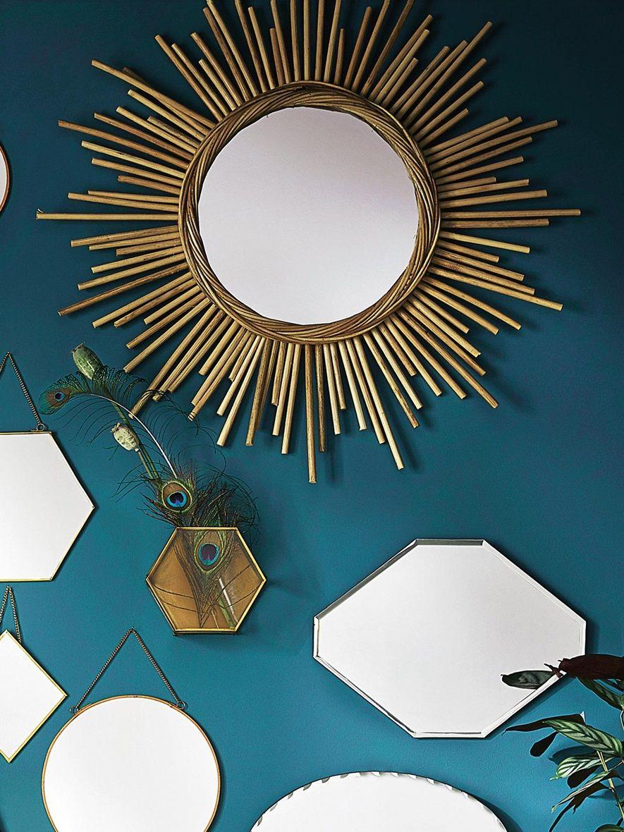 miroir soleil rotin b b vetement et d co cyrillus. Black Bedroom Furniture Sets. Home Design Ideas