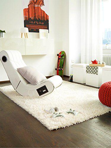 benuta Teppiche Shaggy Langflor Hochflor Teppich Sophie Weiß - hochflor teppich wohnzimmer