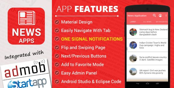 Free Download News Application with Material Design