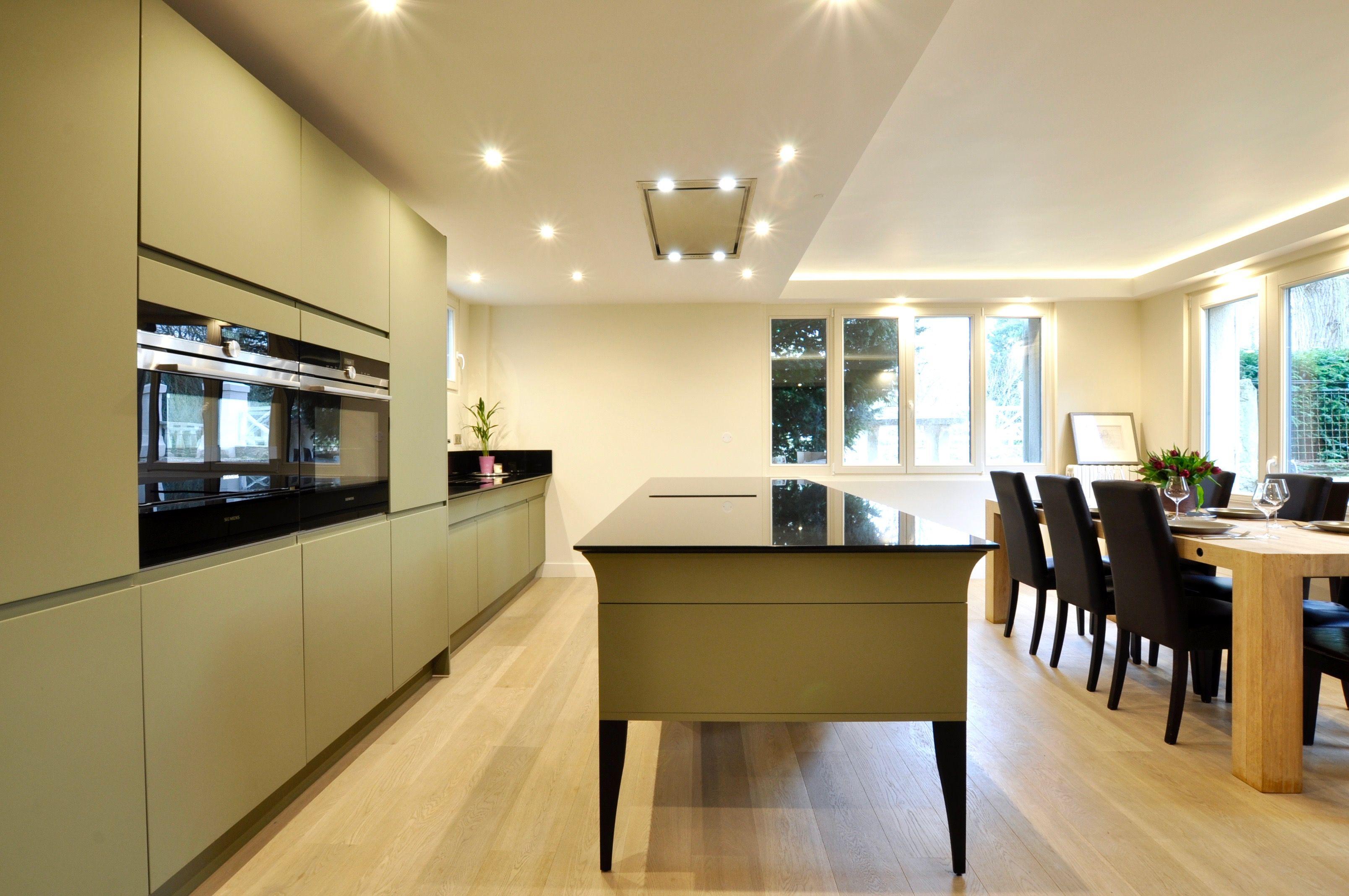 Cuisine Ikea Bois Et Inox ~ Cuisine Design Avec Lot Central Mod Le Alice Ilot Central