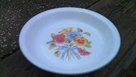 Pyrex Pie Plate 10 Inch Pie Plate Alert Log Cabin Cookingpie Plate