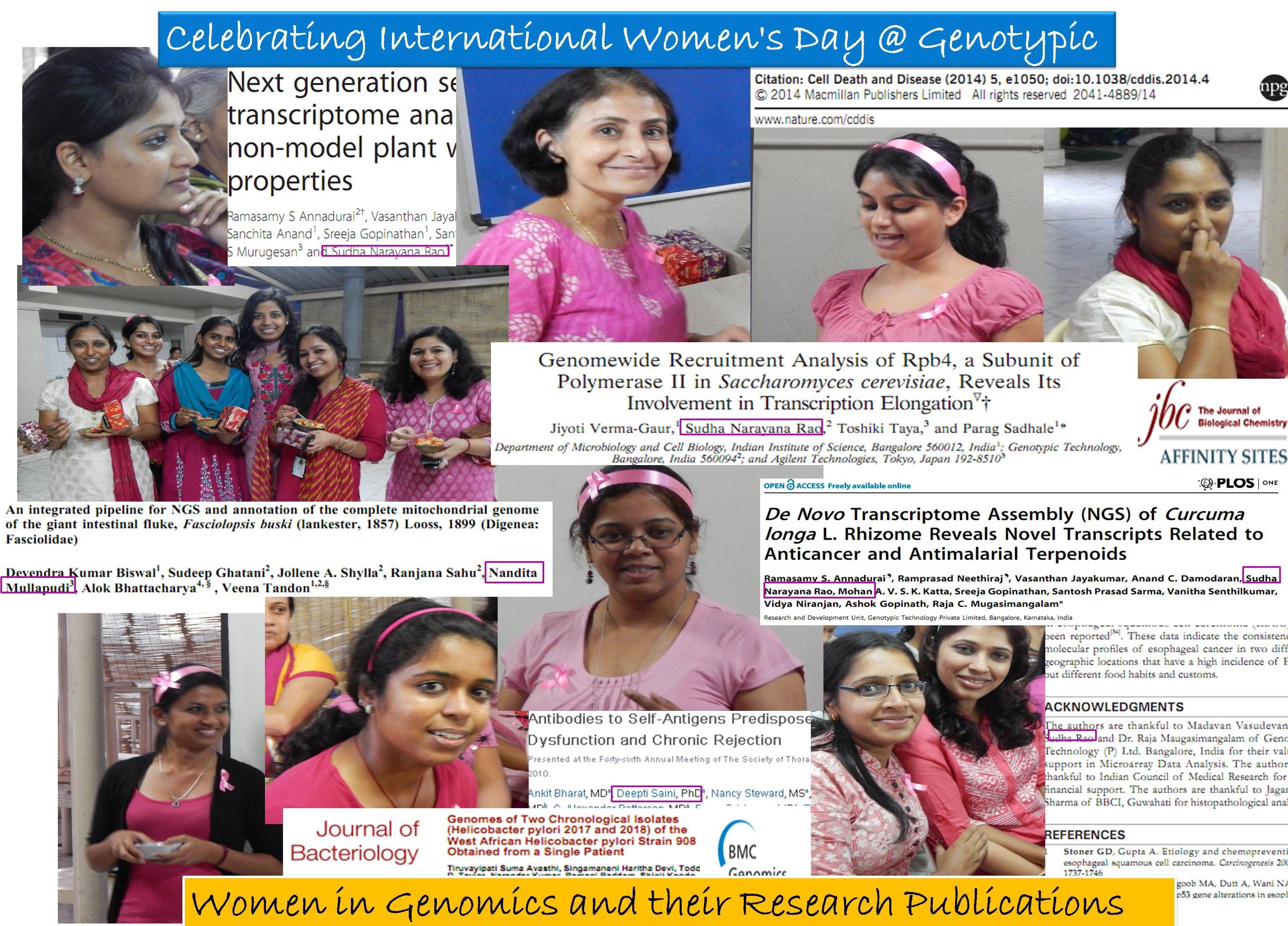 Genotypic celebrates International Women's Day 2014