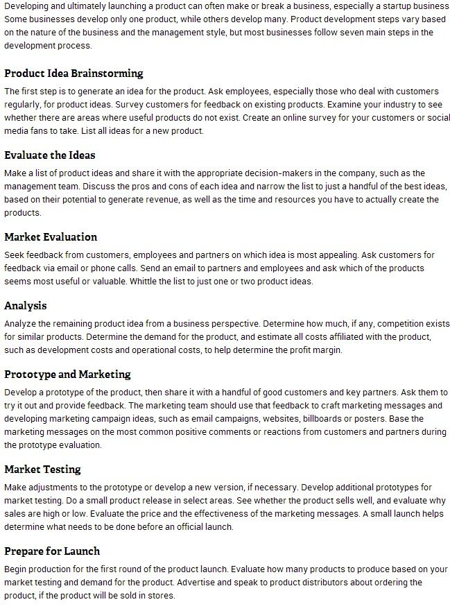 7 Steps Of Product Development Development Start Up Business Management Styles