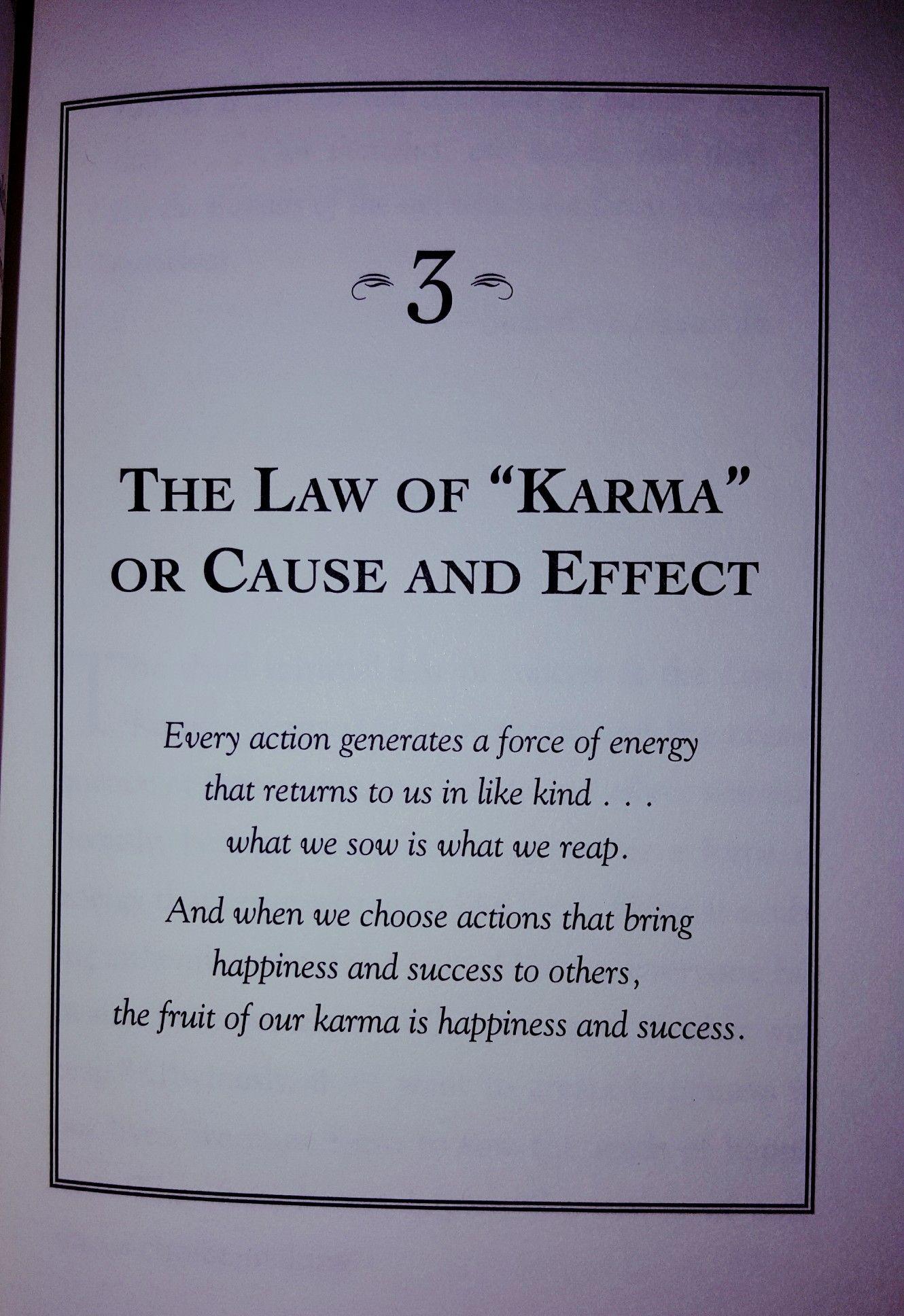 The Seven Spiritual Laws Karma Quotes Spiritual Quotes Wisdom Quotes