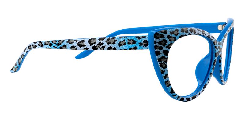 772db3a0f Arda Blue Leopard Cat Eye Glasses VFP0182-03 in 2019 | Shopping 2019 ...
