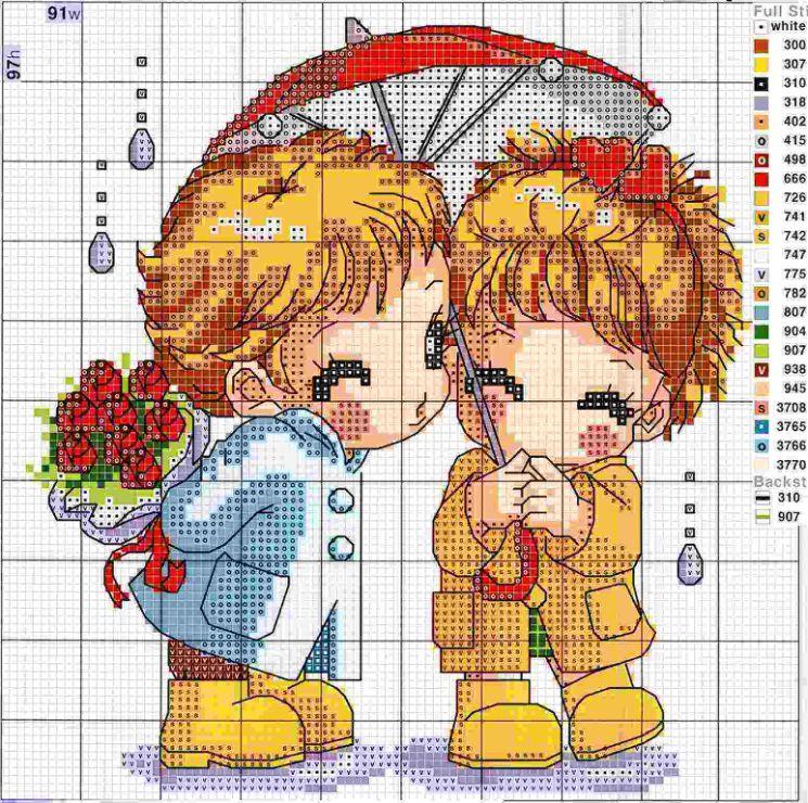 Днем рождения, картинки схема вышивки крестом