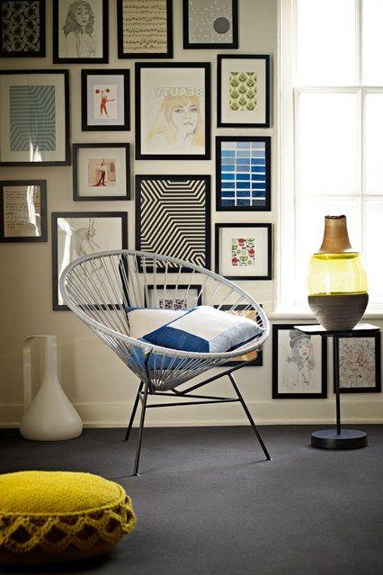 Gallery Wall - Hipster Style Home Ideas – Retro Interior Ideas (houseandgarden.co.uk)
