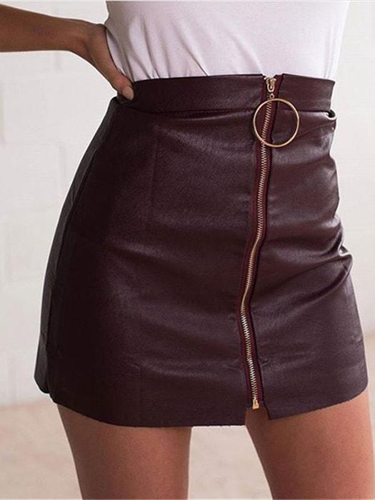 f578a6db7 PU Metallic Hoop Pencil Skirt en 2019 | Ropa | Falda tumblr, Pollera ...