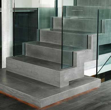 Escalier en beton cir escalier interieur pinterest for Construction escalier exterieur beton