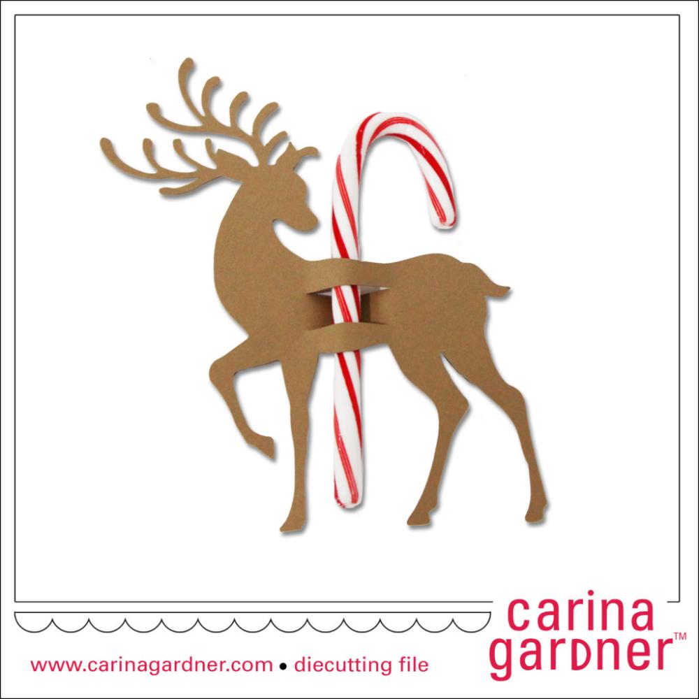 Reindeer Candy Cane Holder Candy cane, Cricut design