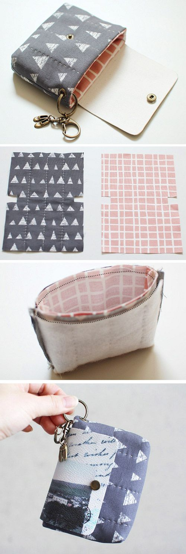 Card Holder Key Ring Sewing Bag Purses Diy Bag