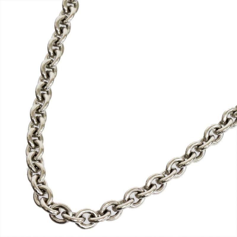 Cartier 18K White Gold Chain Link Necklace Neck circumference: 42 ...