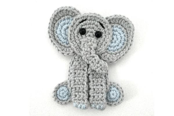 Elephant Applique | Crochet animals free patterns ...
