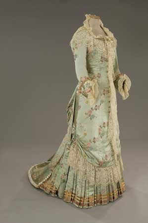 Dress by Gabriella Pescucci, worn by Michelle Pfeiffer in The Age of Innocence (1993), late 1870's