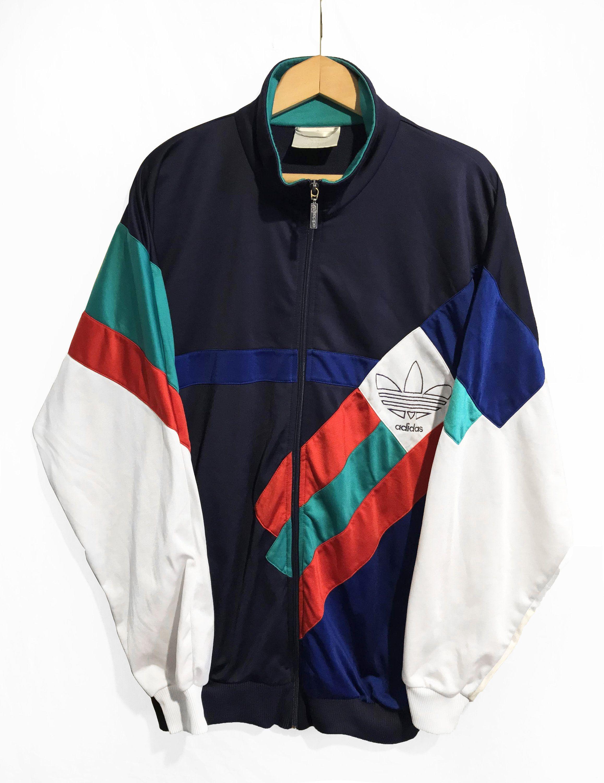 Retro Adidas Originals 90s Track Jacket Blue, Red &