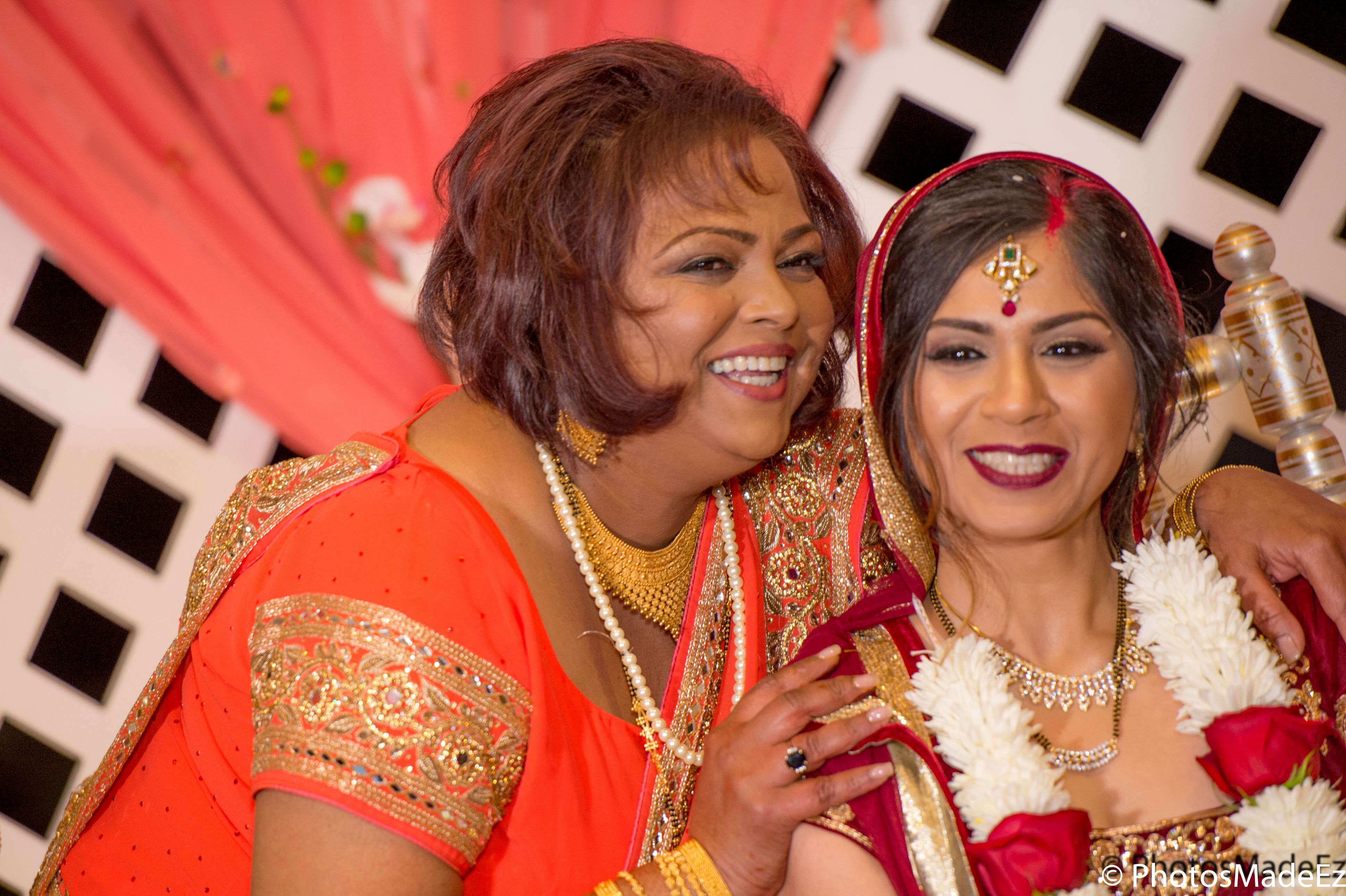 Mehndi Ceremony Etiquette : Bride and motherinlaw hindu wedding ceremony at the mansion in